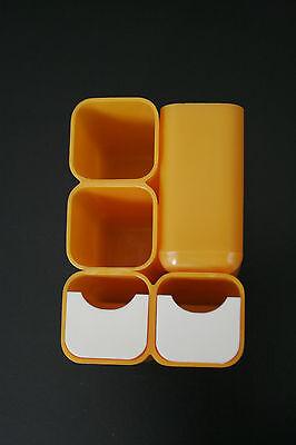 Utensilo 70er Jahre Space Age, Schreibtisch Accessoire, Original in Orange