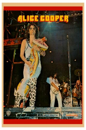 Alice Cooper  * Live on Stage * Photo Poster 1973   12x18