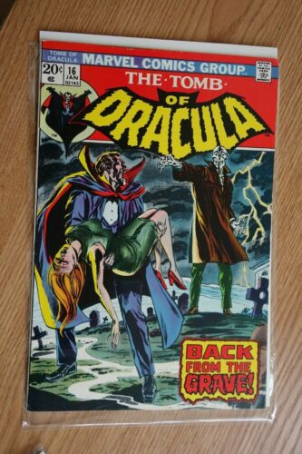 Marvel the Tomb of Dracula #16 (Jan,1973) comic book