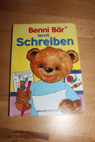 """liebevolles Kinderbuch - """"Benni Bär lernt Schreiben"""" - Schwager&Steinlein Verlag"""