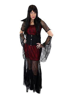 Aufwändig & Sexy Kostüm Kleid Böse Hexe Vampirin Gothic Vamp Witch Märchen L007 ()