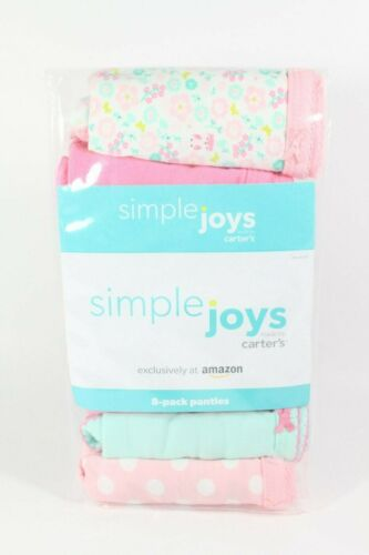 Simple Joys Made by Carters 8 pack Panties Size 6 - 7