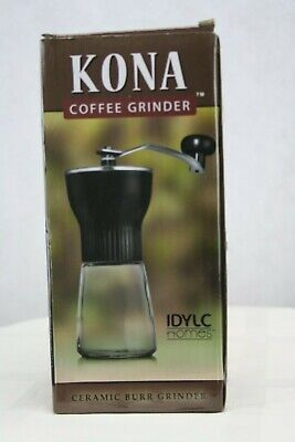 KONA Manual Coffee Grinder ~ Best Conical Burr Mini Mill with Professional (Best Burr Mill Coffee Grinder)