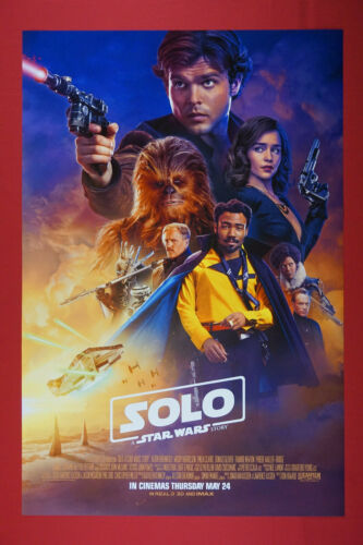 Solo Star Wars Story Han Solo Chewbacca 2018 Movie Art Poster 24X36 New  SOL2
