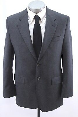 mens charcoal RALPH LAUREN blazer jacket sport suit coat two button wool 39 R