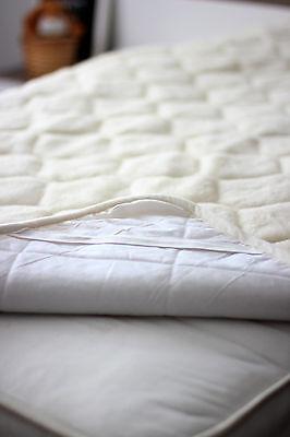 Merino Wool Unter Decke CASHMERE CARO Matratzenauflage Bett Schutz 150 x 200