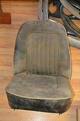 Triumph TR4 black leather passenger seat