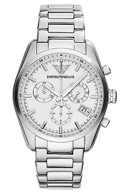 Emporio Armani Sportivo Watch Silver/White Quartz Analog Unisex Watch AR6013