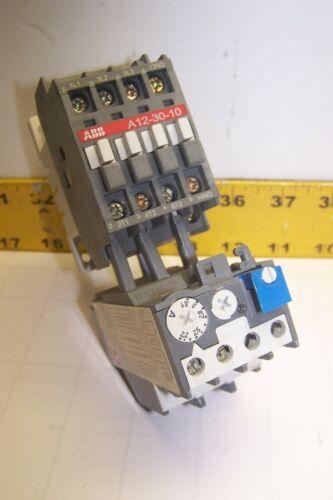 ABB A12-30-10 CONTACTOR 25 AMP 10 HP 600 VAC 120V COIL W/ TA25DU OVERLOAD RELAY