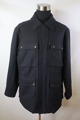 (D01830 VTG Men's TOMMY HILFIGER Wool Quilted Lined Type M-65 Jacket Size XL)