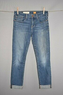 PILCRO ANTHROPOLOGIE $128 Medium Wash Skinny Ankle Jean Size 27