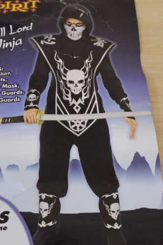 Skull Lord Ninja Boys Size Medium 8-10 Halloween Costume with Accessories