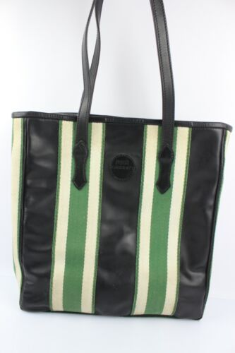 STUBBEN Bag Shopping Leather And Canvas Rare Riding Boots Business Very Good (