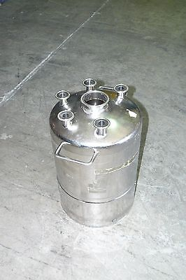 Alloy Products Sanitary Stainless Steel Pressure Vessel Tank 6 Gallon 22.7l
