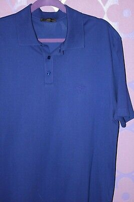 GIANNI VERSACE Men's Cool Royal Blue Polo Shirt Medusa Head LOGO Sz 3XL Current!