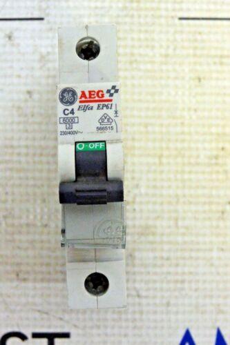 AEG GE ELFA EP61 1 POLE CIRCUIT BREAKER 230/400V C4