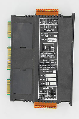 Control Technology Rcm2030 Output Module 8Point Relay 5Amp 15 240Vac Plc Board