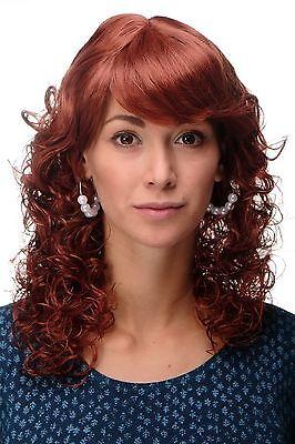 Perücke NEUE ROMANTIK Rote Haare Kupferrot Locken gelockte Spitzen MC008-130 ()