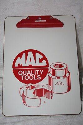 "Very Nice Vintage Mac Tools Advertising Clipboard Clip Board 12.5"" By 9"""
