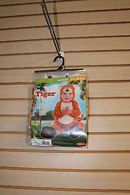 NEW TIGER GIRLS BOYS KIDS SIZE 12-18 MONTHS HALLOWEEN COSTUME OUTFIT BODYSUIT - Boys Tiger Costume