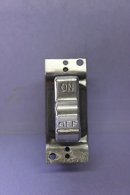 Cutler Hammer Double-pole Metal Rocker Switch - 12a 125v - 1hp 250v - Usa