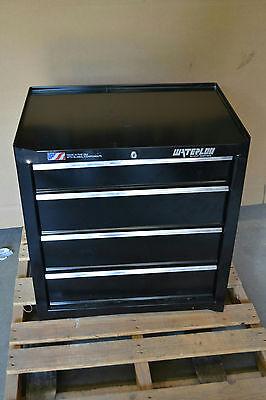 Waterloo Black Rolling Cabinet 26x18x32 4 Drawer Sca-264bk-b
