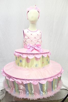 Birthday Tiered Cake Boutique Halloween Costume Girl's Cosplay Sweet Kids NEW