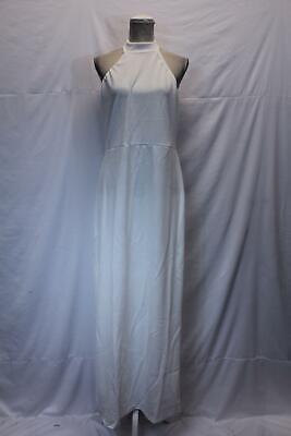 boohoo Women's Plus High Neck Maxi Dress SV3 Ivory Size US:14 UK:18 NWT