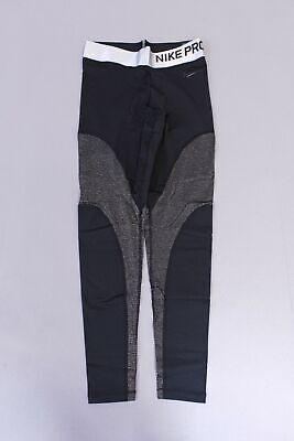 Nike Women's Pro Warm Colorblocked Metallic Ankle Leggings AB3 Black Medium NWT, usado segunda mano  Embacar hacia Mexico