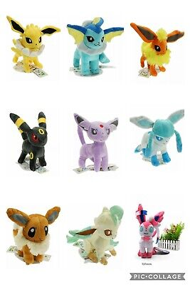 Pokemon Plush Eevee Evolution Characters Stuffed Animal Toys Figures Figurines