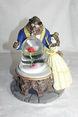Disney Beauty and the Beast Musical Water Snow Globe Rose Enchanted 1991 Retired
