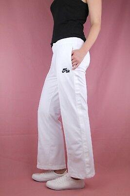NIKE AIR Damen Sporthose Trainingshose tracksuit sweatpants 34/36 weiß Fitness