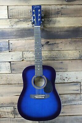 Johnson JG-610-BL  1/2 Size Acoustic Guitar, Blue Burst  #R5958