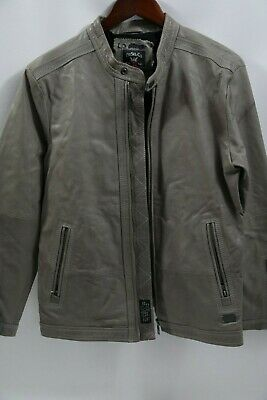 #395 DIESEL Men's  Leather Jacket Size M