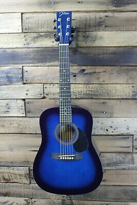 Johnson JG-610-NA  1/2 Size Acoustic Guitar BLUE burst  - Bridge Lift #R6283