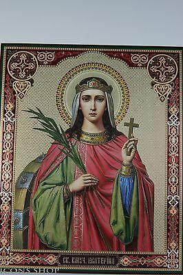 Christian Icon Holy Katharinа Святая  Екатерина  Икона 20Х24Cm