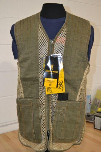 Browning Trapper Creek Mesh Shooting Vest Color: Olive/Tan Size Medium #1000
