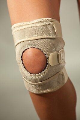Neopren-kniebandage (LOREY - Neopren Kniebandage mit integriertem Silikonring und Patellaaussparung)