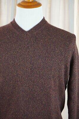 MALO 100% Cashmere Flecked Burgundy V Neck Sweater Sz. 52