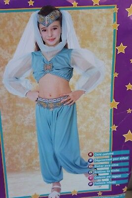 Arabian Princess Girl Girl's Size Small 4-6 Halloween Costume with Accessories - Arabian Costume Accessories