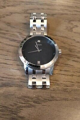 GUESS Men's Diamond-Accent Stainless Steel Bracelet Watch