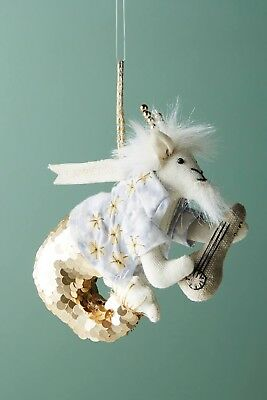 Anthropologie ZODIAC ~CAPRICORN THE GOAT~ Christmas Horoscope ORNAMENT NEW