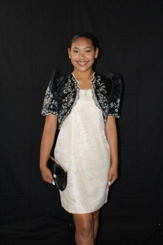 FILIPINIANA BOLERO Barong Tagalog Philippine National Costume - BLACK