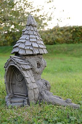 Fairy Garden-Garden Ornament-Fairy House-Stone-Knock Knot Lodge + Step Stones