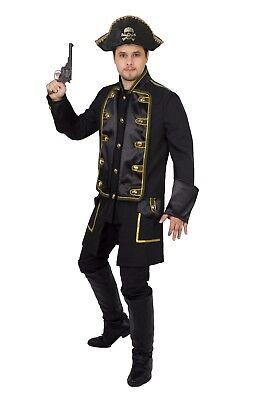 Herren Soldat Piraten  Jacke Karnevalskostüm Uniform Fasching Pirat Köln (Weibliche Soldat Kostüm)