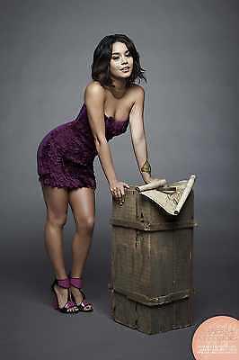 Vanessa Hudgens Posing Violegant Dress 8X10 Picture Celebrity Print