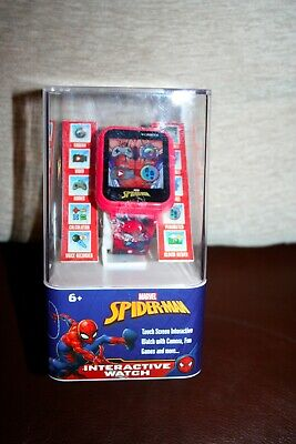 NEW IN BOX SPIDERMAN MARVEL Kids Interactive Watch-CAMERA-VIDEO-ALARM-GAMES-MORE