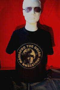 Brian Jonestown Massacre t-shirt with gold print on black t-shirt