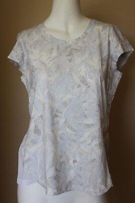 Lululemon Just Pleat It Short Sleeve Size 6 Jasmine White Multi $68