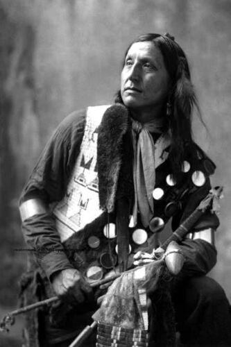 1899 Chief Left Hand Bear PHOTO Oglala Lakota Sioux Native American Indian